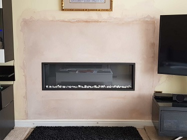 verve electric fire install